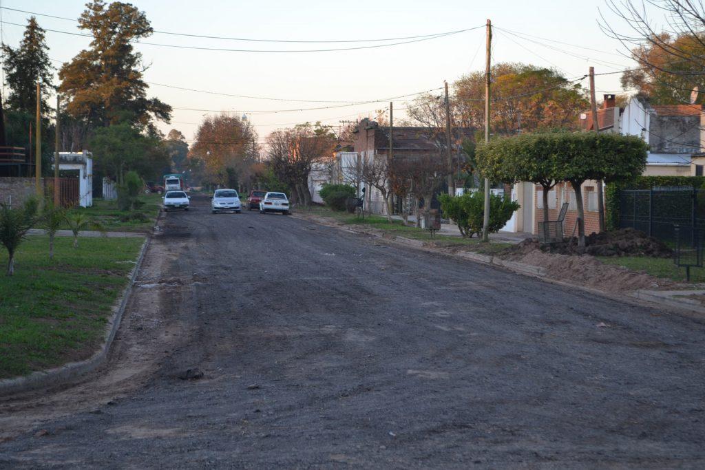 Vista de calle Moreno luego de haber sido reparada