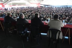 Los presidentes de las entidades en la asamblea de Junín.