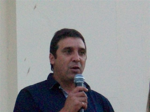 El secretario de Servicios Públicos Alfredo Martínez en la asunción de María Luisa Alvarez.