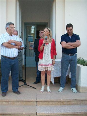 La nueva Delegada Municipal de Castilla, María Luisa Alvarez al hacer uso de la palabra.