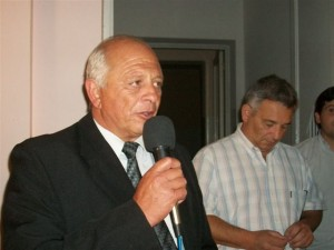 Micucci cuando asume como Delegado Municipal.