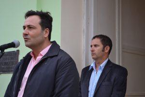 Aiola y Gómez estarán en la apertura de ofertas para las obras  de agua potable y cloacas para Rawson.