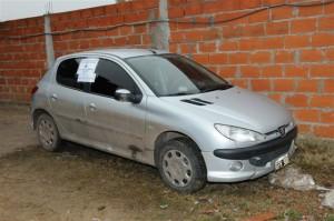 Uno de los autos secuestrados.
