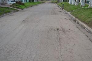 Otra imagen de las roturas en avenida Chacabuco.