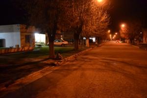 Avenida Perón, lugar donde sucedieron los hechos.