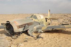 El RAF Curtiss P-40 Kittyhawk hallado en el Sahara.