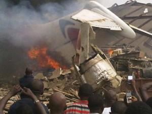 Se estrelló avión en Nigeria.