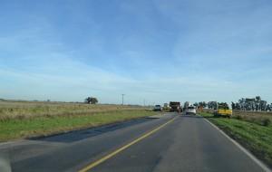 Trabajos que se realizaron sobre el kilómetro 155 de la Ruta 51.