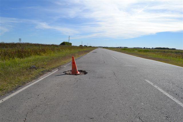 Las marcaciones se encuentran a 5 kilómetros de Rawson.