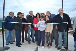 Inauguración de asfalto frente a Escuela Nº8.