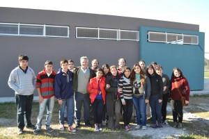 Barrientos recorrió la obra del nuevo edificio de la Escuela Secundaria Nº8.