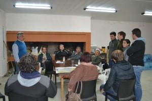 Barrientos se reunió con concejales y vecinos.