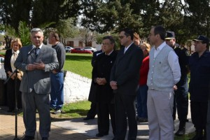 Barrientos en el Acto por el Bicentenario de la Batalla de Tucumán en Chacabuco.
