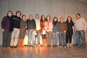 Barrientos junto a los candidatos a concejales del Frente para la Victoria en O´Higgins.