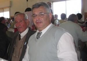 El Delegado Municipal de O´Higgins Pagano junto a Barrientos.