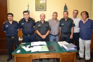 Barrientos en la asunción del comisario Rubén Benítez.