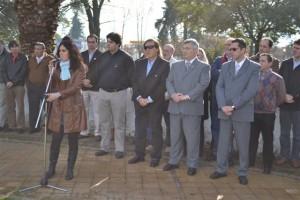 Acto Día de la Bandera en Chacabuco.
