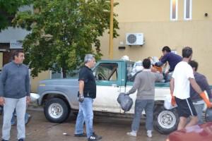 Barrientos recolectó de residuos domiciliarios en Chacabuco.