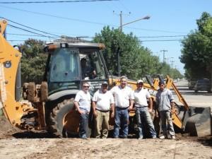 El Municipio trabaja en Falucho y Alberdi.