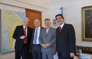 Domínguez, De Vido, Barrientos y Capitanich.