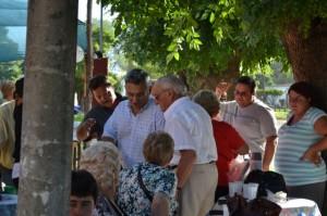 Barrientos en la Plaza de Castilla durante los festejos patronales.
