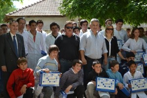 Barrientos en la Escuela Nº 13 de Castilla.