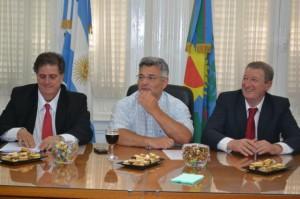 Collia, Barrientos y Quadrelli. Foto de archivo.