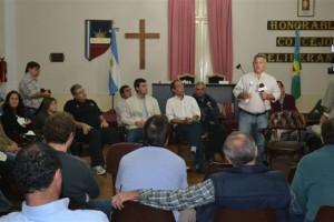 Reunió llevada a cabo esta noche en el Concejo Deliberante de Chacabuco.