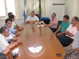 Barrientos se reunió con concejales.
