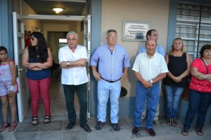 Barrientos en la  inauguración del nuevo consultorio odontológico.