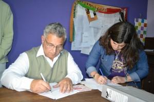 Barrientos firmó convenio con la Escuela Nº 501.