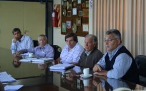 Barrientos en la Cooperativa Eléctrica de Chacabuco.
