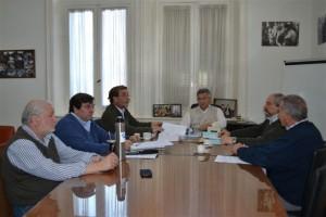 Barrientos con directivos de la Cooperativa Eléctrica de Chacabuco.