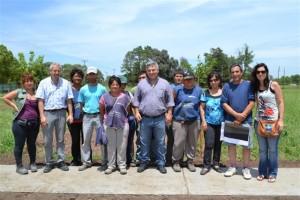 Barrientos recorrió las obras que las Cooperativas de Trabajo están realizando.