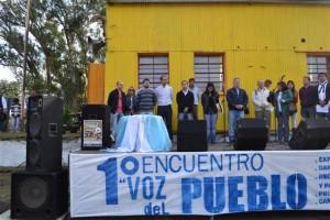 Barrientos en el 1° Festival Voz Pueblo en Cucha Cucha.