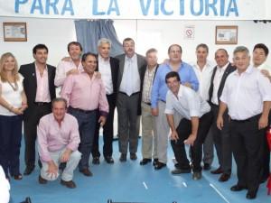 Barrientos acompañó a Domínguez en Vedia.