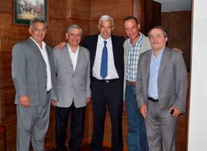 Barrientos se reunió con Domínguez.