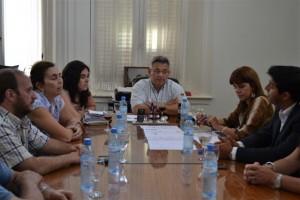 Barrientos se reunió con autoridades educativas.