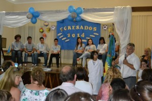 El Intendente Barrientos en el acto de egresados de la Escuela Secundaria Nº8