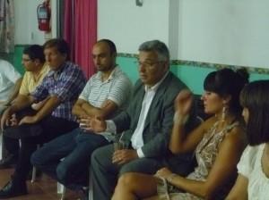 Barrientos en la reunión por el Foro de Seguridad.