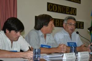 Andrés Verde, Claudio Geloso y Mauricio Barrientos.