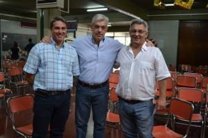 Darío Golía, Julián Domínguez y Mauricio Barrientos antes de emitir su voto.