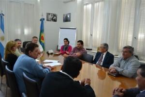 Barrientos reunido con los representantes de la distintas iglesias de Chacabuco.
