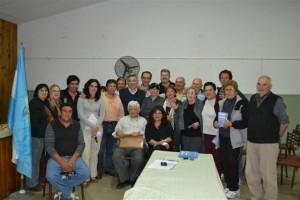 Barrientos y los candidatos en el barrio La Unión.