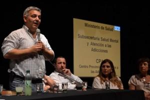 Barrientos participó de la Jornada de las Adicciones.