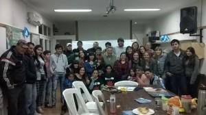 Barrientos con Jóvenes peronistas.