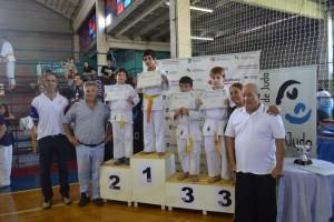 Barrientos en el Campeonato de Judo.