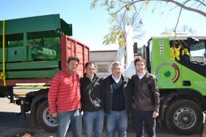 Llegaron a Chacabuco las máquinas de la Planta de Reciclado.
