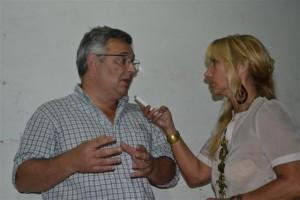 Barrientos durante la nota con Mónica del Castillo.