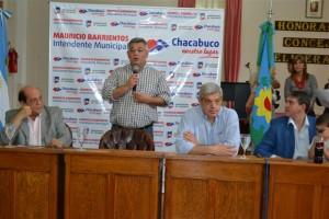 Barrientos firmó convenio para una Planta de Tratamiento de Residuos.